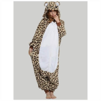 adult leopard onesie