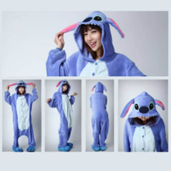 adult blue stitch onesie