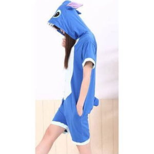 adult blue stitch summer onesie
