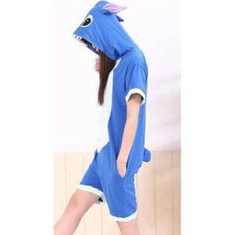 adult blue stitch summer onesie