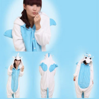 Adult blue unicorn onesie