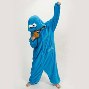 adult cookie monster onesie