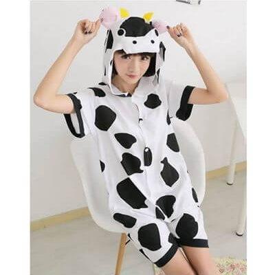 adult cow summer onesie
