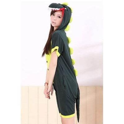 adult green dragon summer onesie