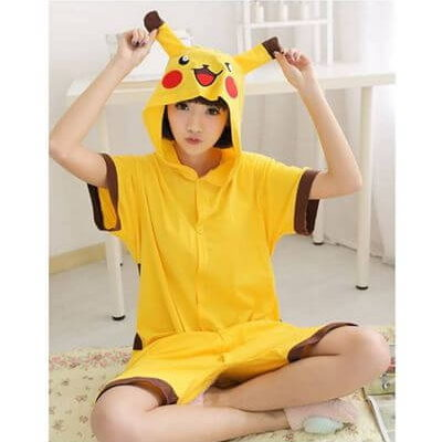 adult pikachu summer onesie