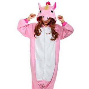 adult pink unicorn onesie