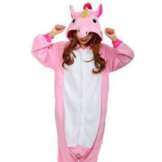 adult pink unicorn onesie