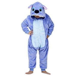 kids blue stitch onesie