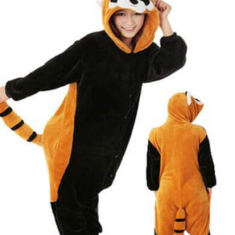 adult raccoon onesie