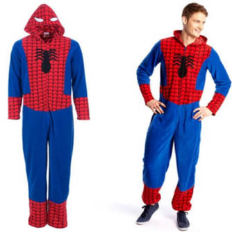 adult spiderman onesie
