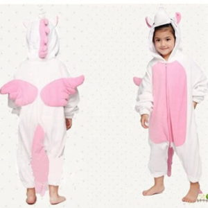 kids pink unicorn onesie