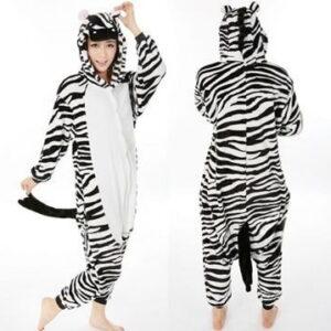 adult zebra onesie
