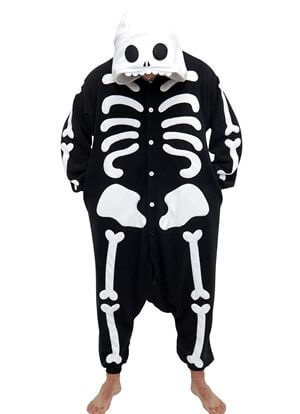 adult skeleton onesie