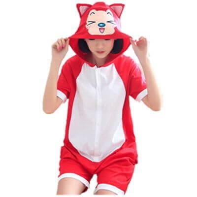 adult ali the fox summer onesie