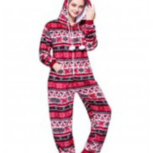adult red snowflake onesie