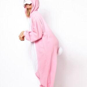adult pink bunny onesie