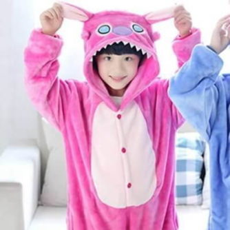 kids pink stitch onesie