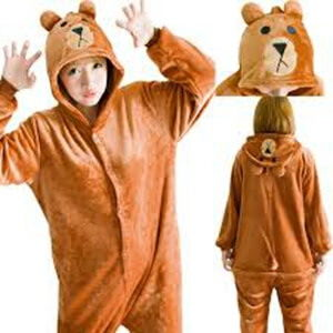 adult brown bear onesie