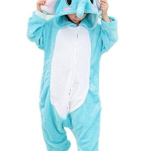 kids blue elephant onesie