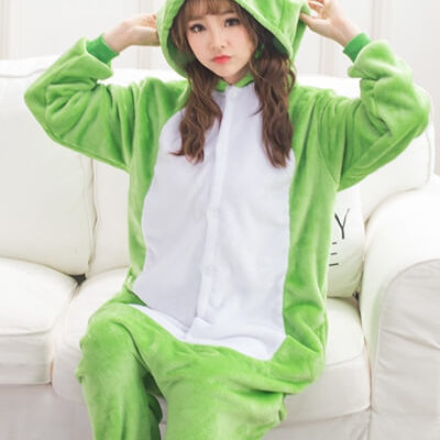 adult green frog onesie
