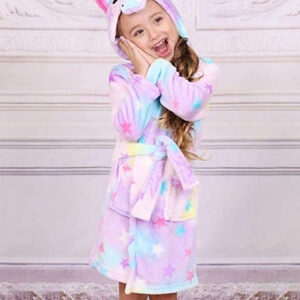 kids star unicorn robe